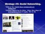 strategy 5 social networking3