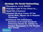 strategy 5 social networking4