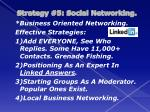 strategy 5 social networking6