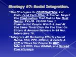 strategy 7 social integration