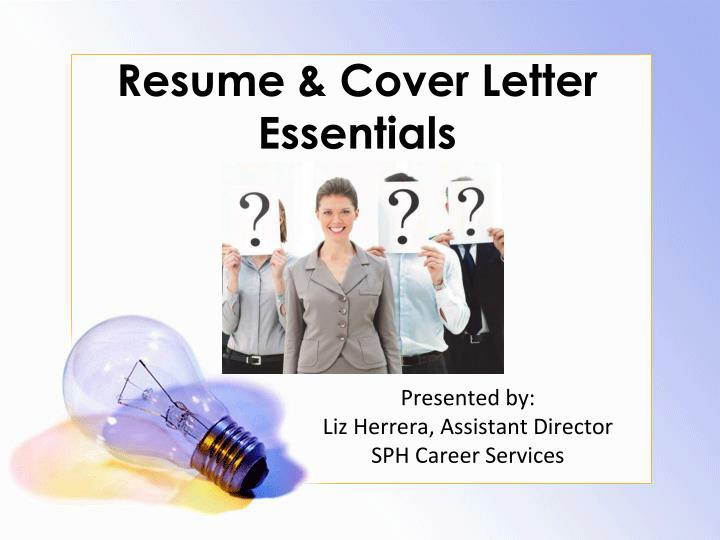 resume cover letter essentials n.
