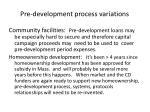 pre development process variations1