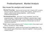 predevelopment market analysis