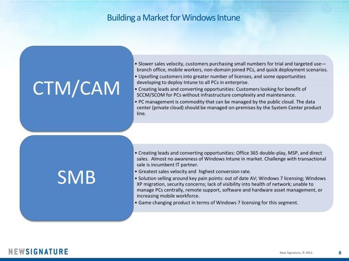 Building a Market for Windows