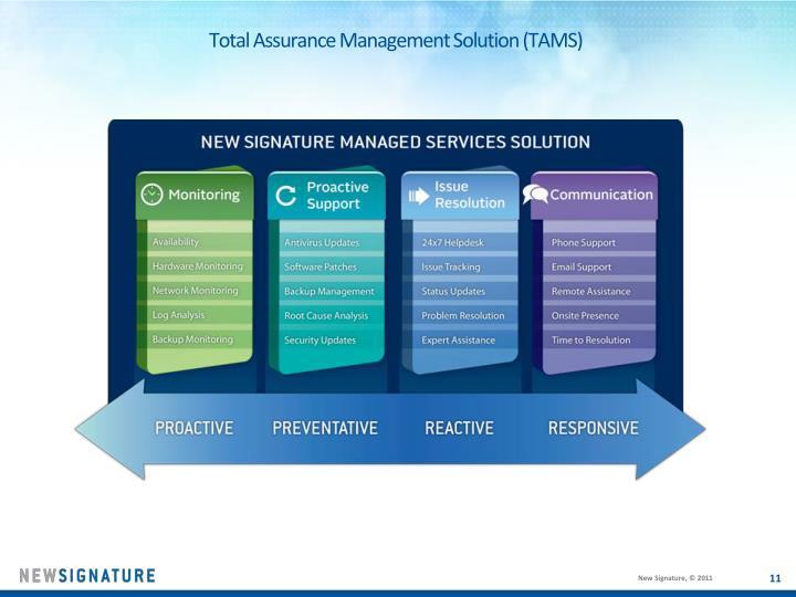 Total Assurance Management Solution (TAMS)