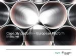 capacity platform european platform initiative