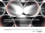 coordinated network development plan 2012 2013