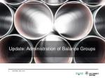 update administration of balance groups