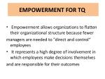 empowerment for tq1