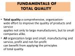 fundamentals of total quality