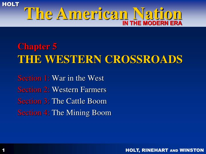 chapter 5 the western crossroads n.