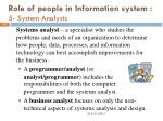 role of people in information system 5 system analysts