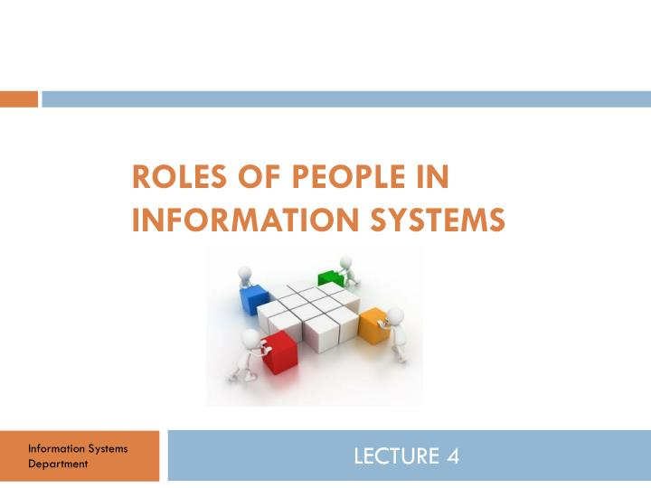 roles of people in information systems n.