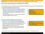 definition of key performance indicators kpi and process performance indicators ppi
