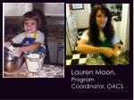 lauren moon program coordinator oacs