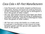 coca cola v all fect manufacturers