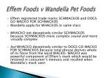 effem foods v wandella pet foods