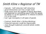smith kline v registrar of tm