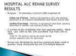 hospital alc rehab survey results