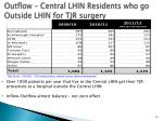 outflow central lhin residents who go outside lhin for tjr surgery
