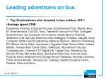 leading advertisers on bus