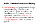 define the terms event marketing