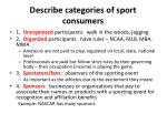 describe categories of sport consumers
