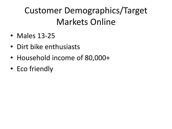 Customer Demographics/Target Markets Online