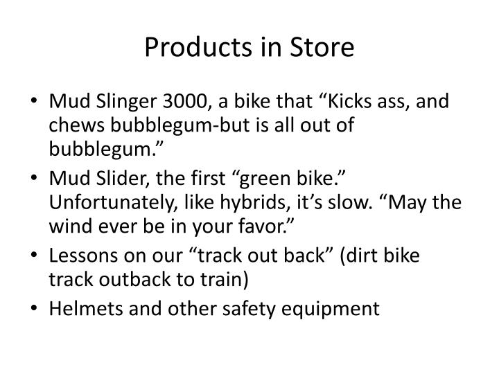 Products in Store