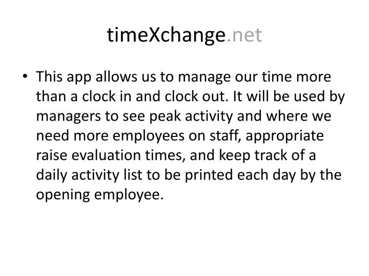 timeXchange