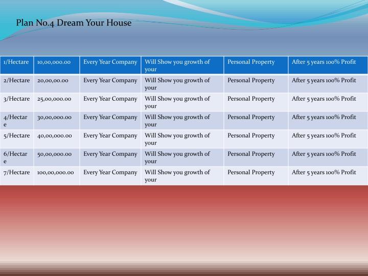 Plan No.4 Dream Your House