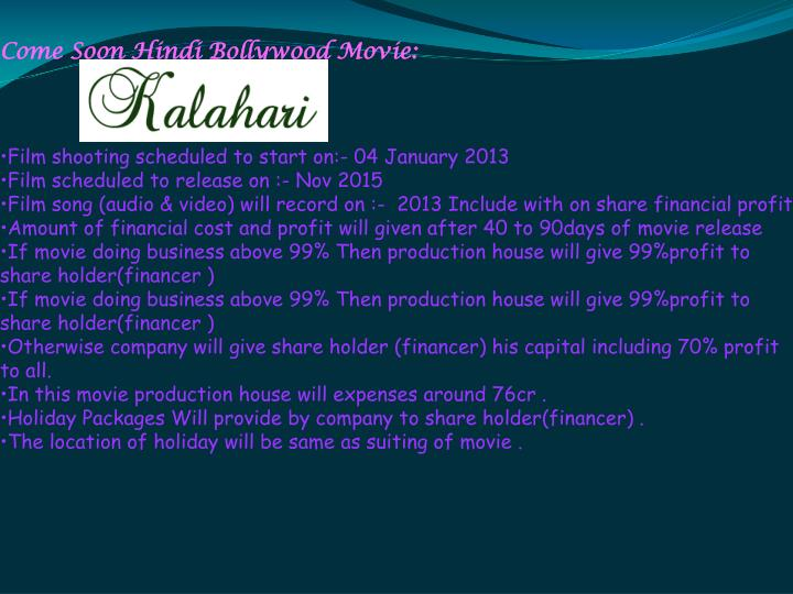 Come Soon Hindi Bollywood Movie: