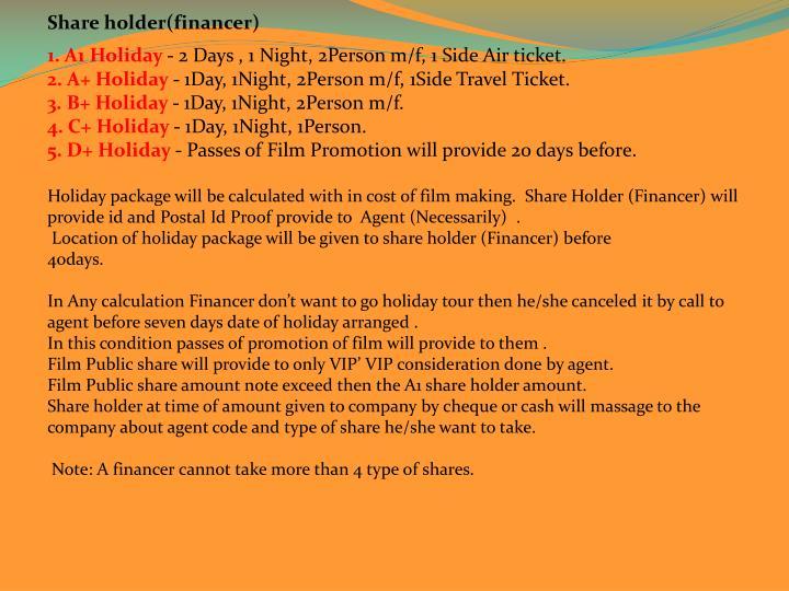 Share holder(financer)