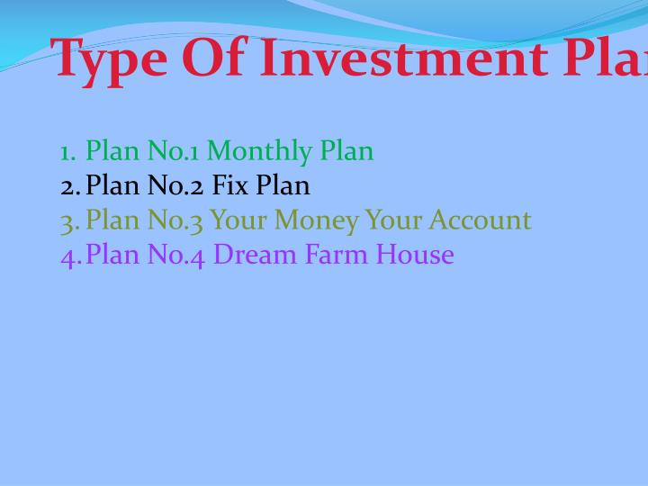 Type Of Investment Plan