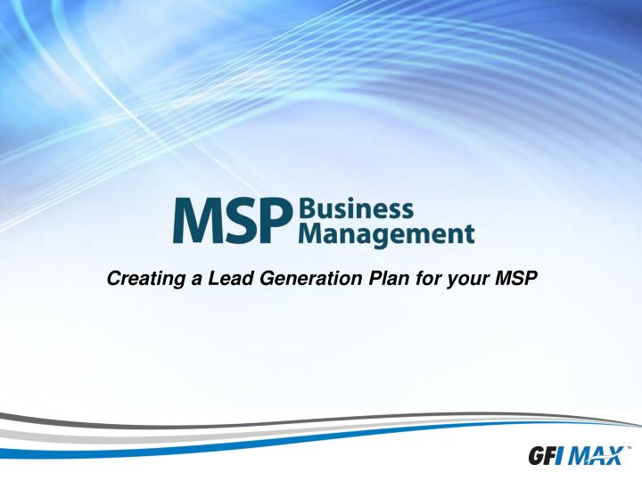 creating a lead generation plan for your msp n.