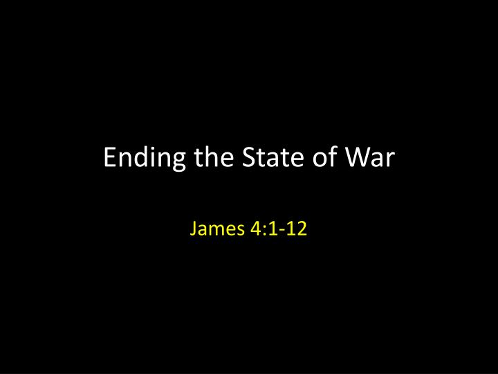 ending the state of war n.