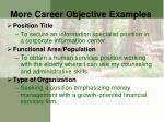 more career objective examples