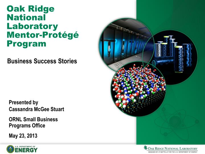oak ridge national laboratory mentor prot g program n.