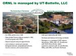 ornl is managed by ut battelle llc