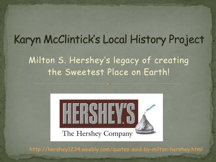 karyn mcclintick s local history project n.