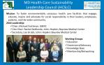 md health care sustainability leadership council hcslc