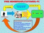 free membership customer fc