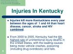 injuries in kentucky