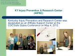ky injury prevention research center kiprc