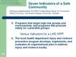 seven indicators of a safe community2