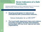 seven indicators of a safe community6