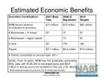 estimated economic benefits