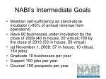 nabi s intermediate goals