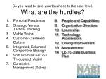 so you want to take your business to the next level what are the hurdles