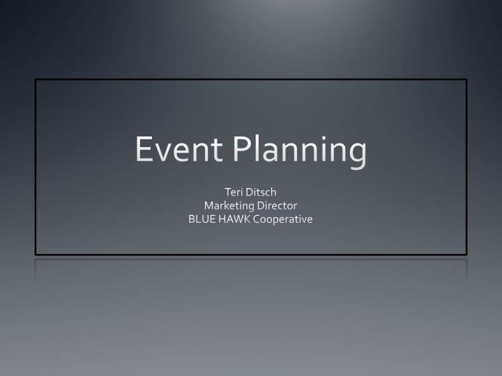 event planning n.